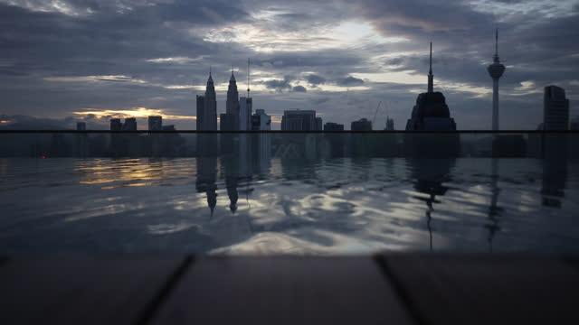 city view - menara kuala lumpur tower stock videos & royalty-free footage