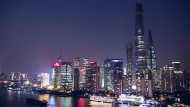 WS Cityscape along the Huangpu River night, Shanghai
