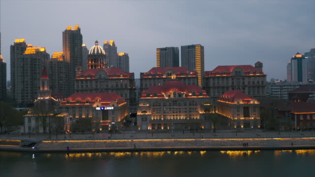 cityscape along the river - liyao xie stock videos & royalty-free footage