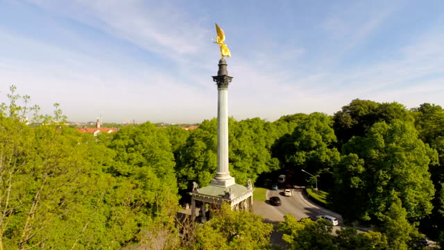 Cityscape and Friedensengel monument