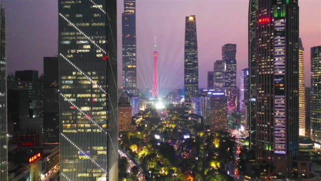 cityscape and skyline of guangzhou - guangzhou stock videos & royalty-free footage