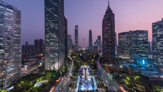 cityscape and skyline of guangzhou,timelapse - guangzhou stock videos & royalty-free footage