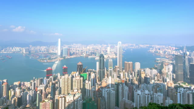 cityscape and skyline of Hong Kong timelapse 4k