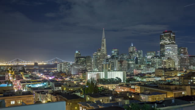 cityscape and skyline of san francisco. timelapse 4k