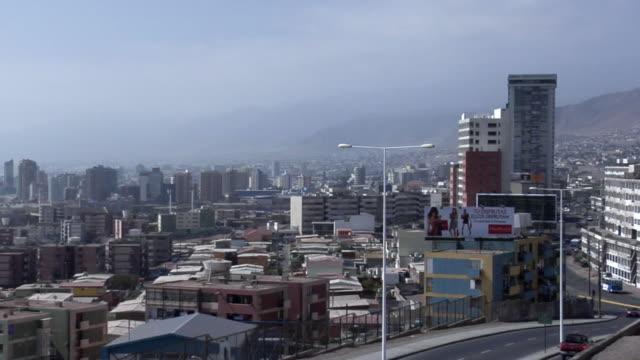 ws pan cityscape, antofagasta, chile - antofagasta region stock videos and b-roll footage