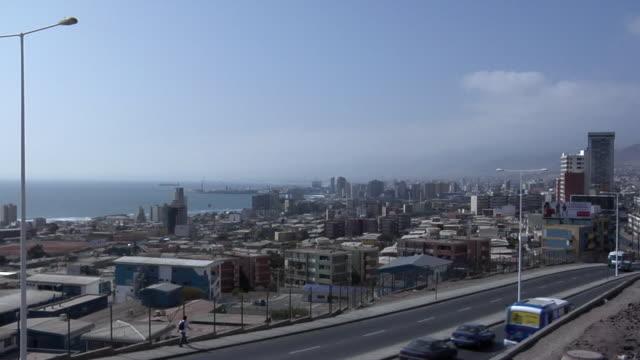 ws ha cityscape, antofagasta, chile - antofagasta region stock videos and b-roll footage