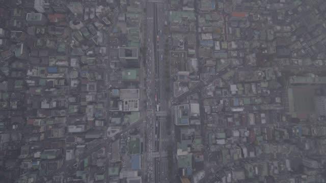 vídeos de stock, filmes e b-roll de cityscape around nonhyeon station, seoul, south korea - coreia do sul