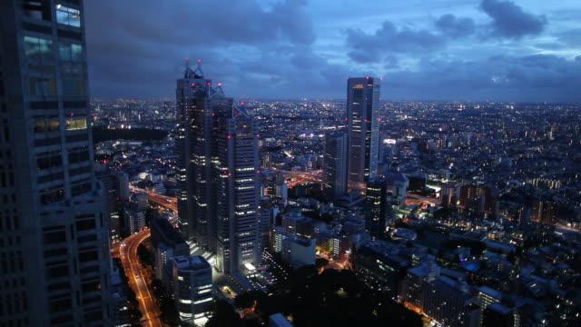 WS HA Cityscape at dusk / Tokyo, Japan