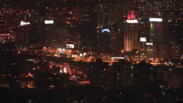 WS HA Cityscape at night / Caracas, Miranda, Venezuela