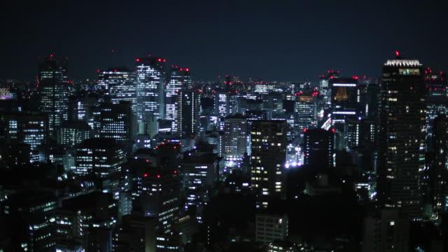 WS HA Cityscape at night / Tokyo, Japan