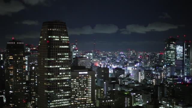 ws ha cityscape at night / tokyo, japan - 夜点の映像素材/bロール