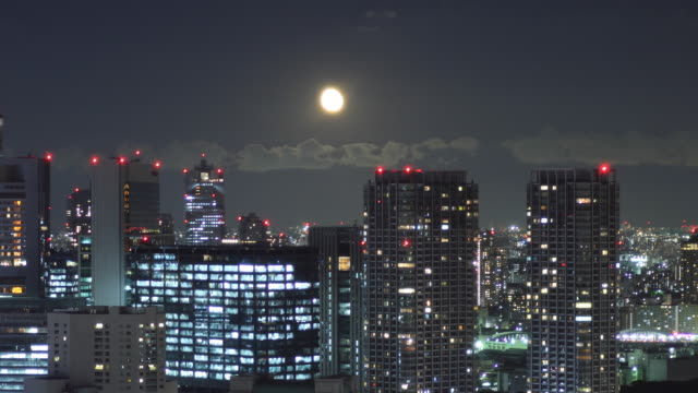 t/l ws zi cityscape at night / tokyo, japan - heranzoomen stock-videos und b-roll-filmmaterial