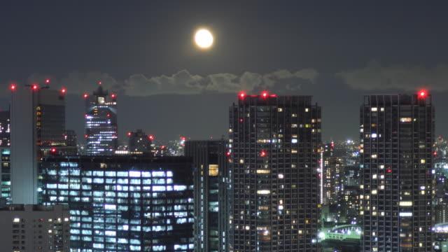 t/l ws cityscape at night / tokyo, japan - 外壁点の映像素材/bロール