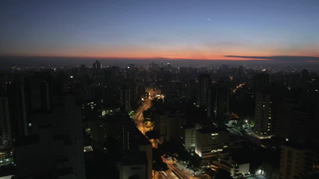 T/L, WS, HA, Cityscape at sunrise, Sao Paulo, Brazil
