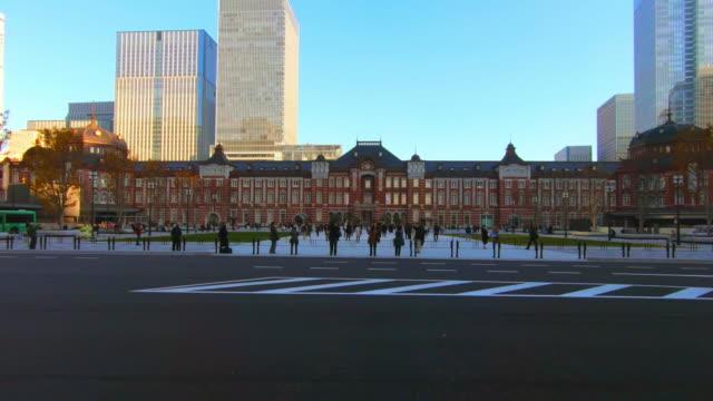 東京駅で都市の景観 - 正面から見た図点の映像素材/bロール