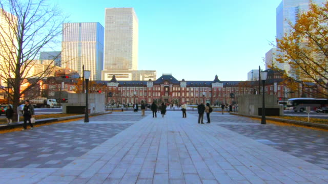 cityscape at tokyo station - marunouchi stock videos & royalty-free footage