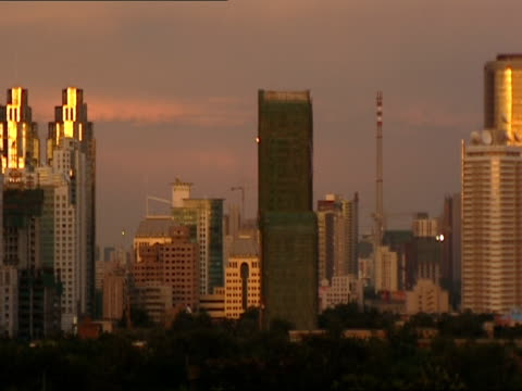 WS, PAN, Cityscape at twilight, Beijing, China