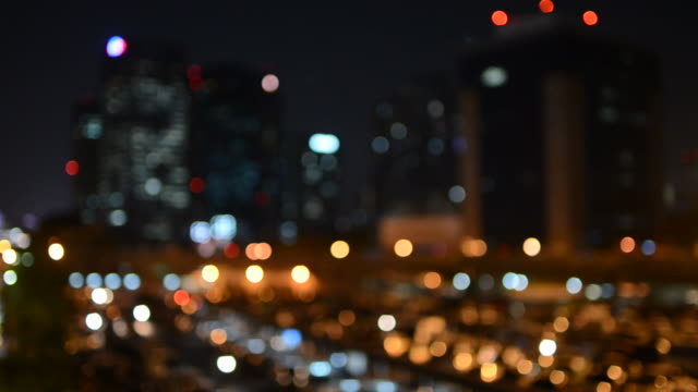 cityscape bokeh style video background - blurred motion stock videos & royalty-free footage
