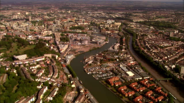 aerial, cityscape, bristol, england - bristol england stock videos and b-roll footage