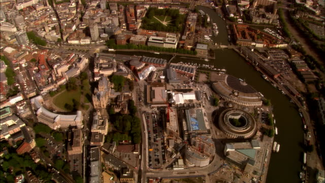 aerial, cityscape, bristol, england - bristol england stock videos & royalty-free footage