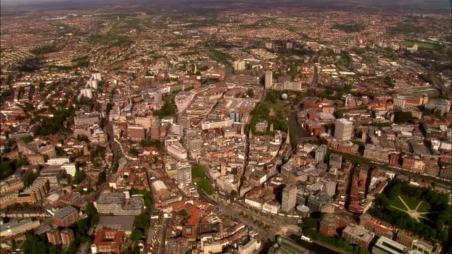 aerial, cityscape, bristol, england - bristol inghilterra video stock e b–roll