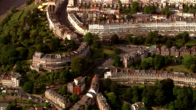 aerial, cityscape, bristol, england - bristol england stock videos & royalty-free footage