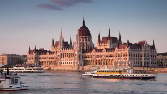 cityscape - budapest - parliament building stock videos & royalty-free footage