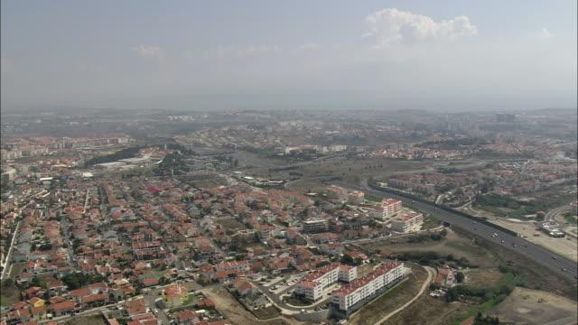 aerial ws cityscape / cascais, lisbon, portugal - cascais stock videos and b-roll footage