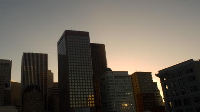 Cityscape dawn timelapse