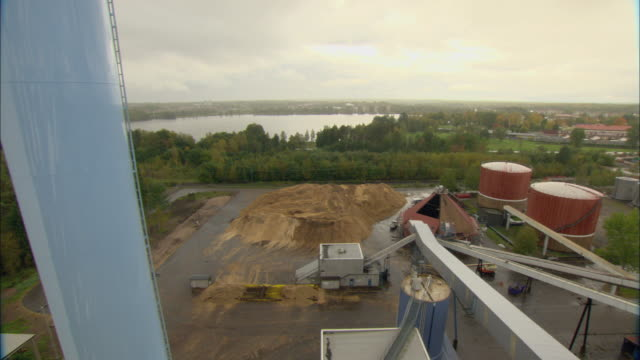 ws ha pan cityscape from biomass plant / vaxjo, sweden - vaxjo stock videos & royalty-free footage