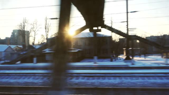 Stadtansicht aus dem Zug Fenster