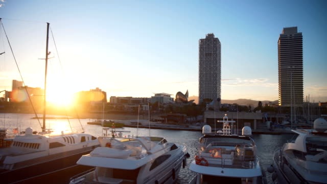 cityscape harbor - passenger ship stock videos & royalty-free footage