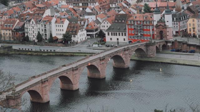 Cityscape Heidelberg City Old Town Neuenheim, Germany