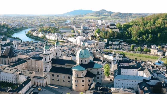 cityscape historic city of salzburger land, austria - austria video stock e b–roll