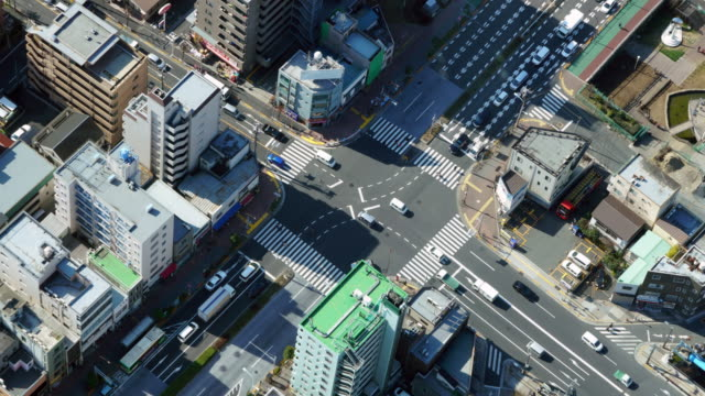 cityscape in japan - road junction stock videos & royalty-free footage