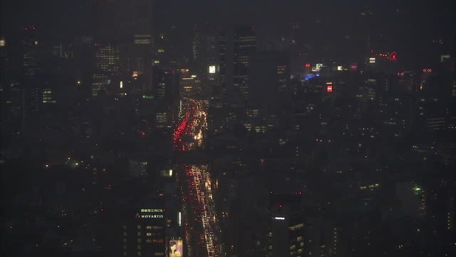 ls ha cityscape in roppongi, tokyo, japan - roppongi stock videos and b-roll footage