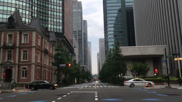 stockvideo's en b-roll-footage met cityscape in tokyo, japan - financieel district