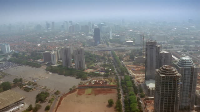 aerial, cityscape, jakarta, java, indonesia - jakarta stock videos & royalty-free footage