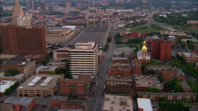 AERIAL, cityscape, Kansas City, Missouri, USA