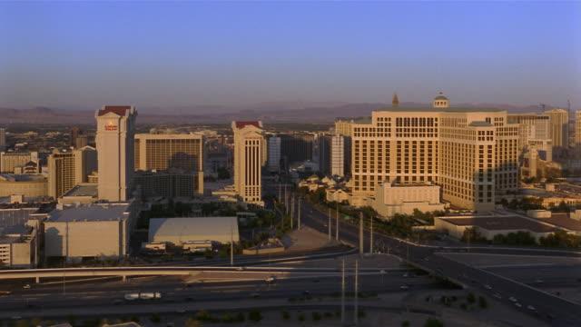 ws, cityscape, las vegas, nevada, usa - 2006 stock videos & royalty-free footage