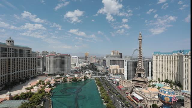 4K Stadtbild Las Vegas Skyline Tag Zeitraffer