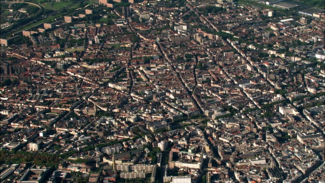 aerial cityscape/ lille, france - lille stock videos & royalty-free footage