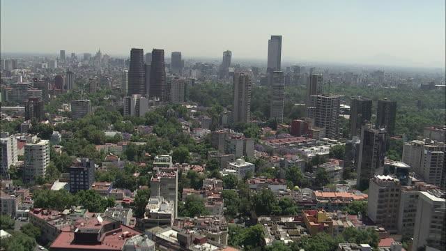 vídeos de stock, filmes e b-roll de aerial, cityscape, mexico city, mexico - cidade do méxico