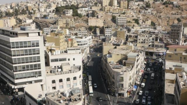 cityscape of amman, jordan - rock formation stock videos & royalty-free footage