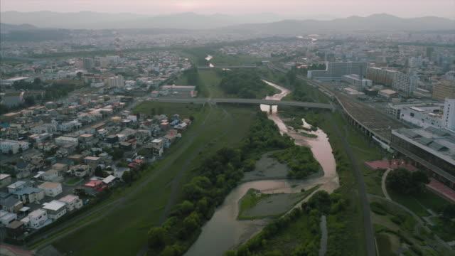 cityscape of asahikawa - asahikawa stock videos & royalty-free footage