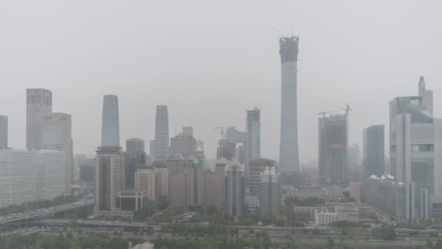 Luftverschmutzung T/L Stadtbild von Peking / Beijing, China