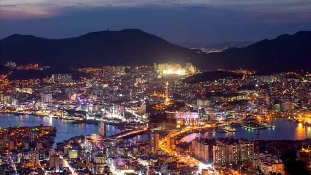 cityscape of busan harbor / dong-gu, busan, south korea - wide stock videos & royalty-free footage