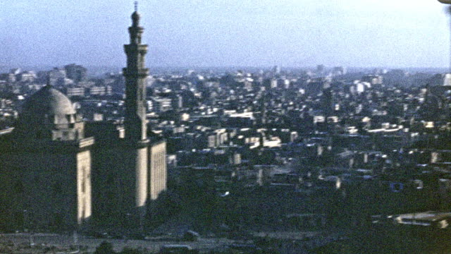 cityscape of cairo in 1946 - unfashionable stock videos & royalty-free footage