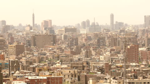 cityscape of cairo in egypt - egypt stock videos & royalty-free footage