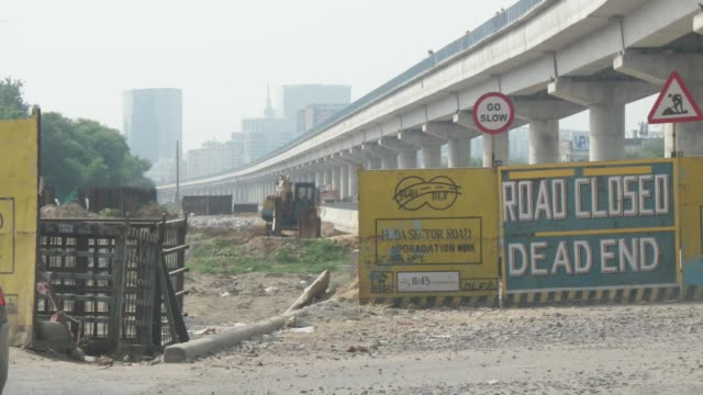 cityscape of gurgaon or gurugram a city located in the national capital region of india and a financial and technology hub - capital region stock videos & royalty-free footage